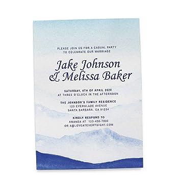Amazon Com Mountain Top View Reception Invitation Cards