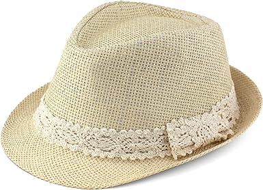 Dantiya Mens Wide Brim Cowboy Fedoras Trilby Sun Hats