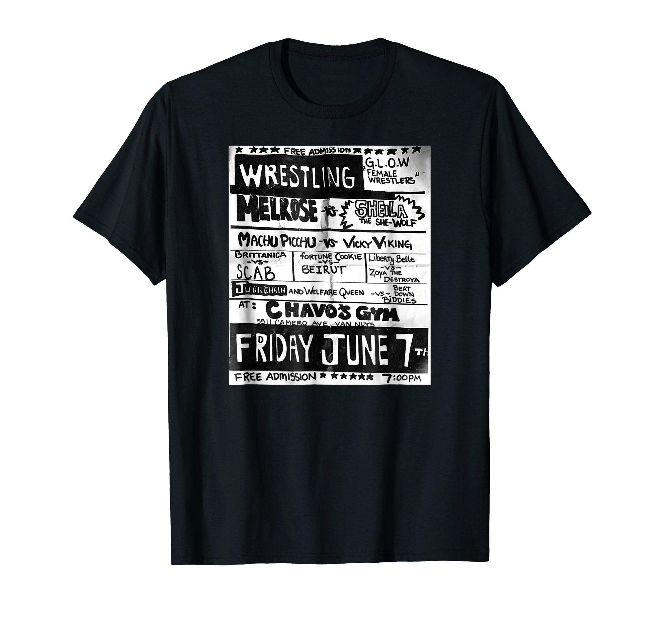 Netflix Glow Wrestling Poster T-shirt