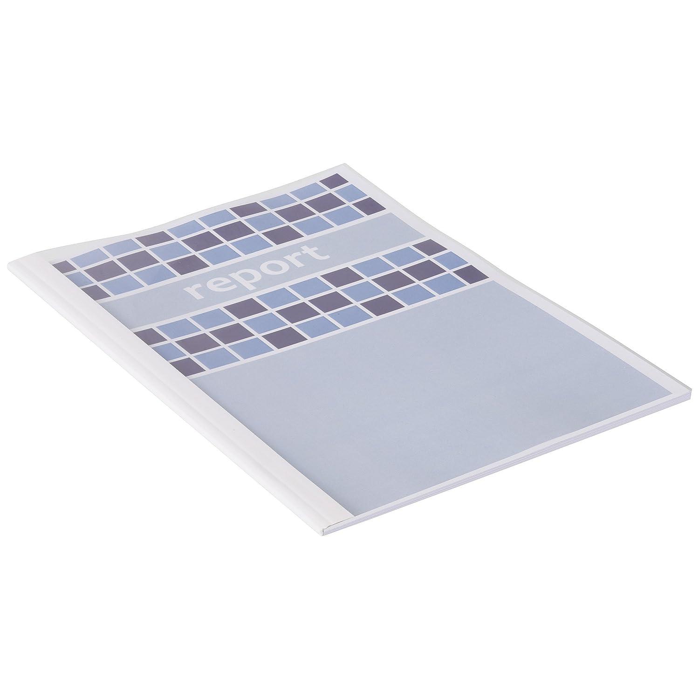 GBC TC080070 Copertine per Rilegatura Termica Optimal, 1.5 mm, Confezione 100 Pezzi, Bianco ACCO Brands