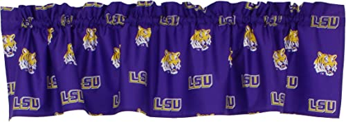 College Covers NCAA Curtain Valance, 84 x 15 , LSU Tigers