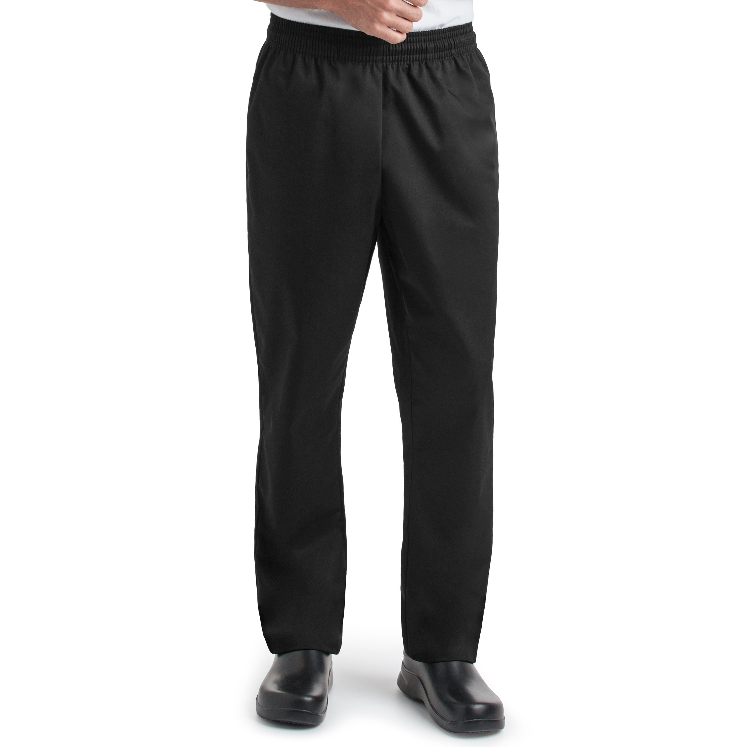 On The Line Unisex Chef Baggy Pants/Elastic Waistband with Tapered Leg/2 Side Pockets and 2 Back Pockets (S-2X) (XX-Large)