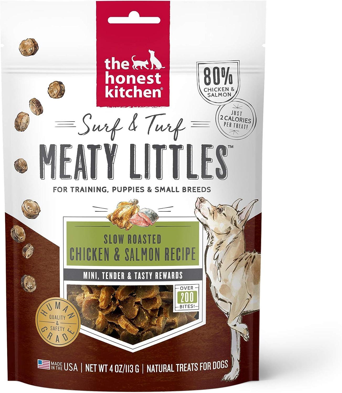 The Honest Kitchen Surf & Turf Meaty Littles Dog Treats - Tasty Training Treats - 4 oz. Bag