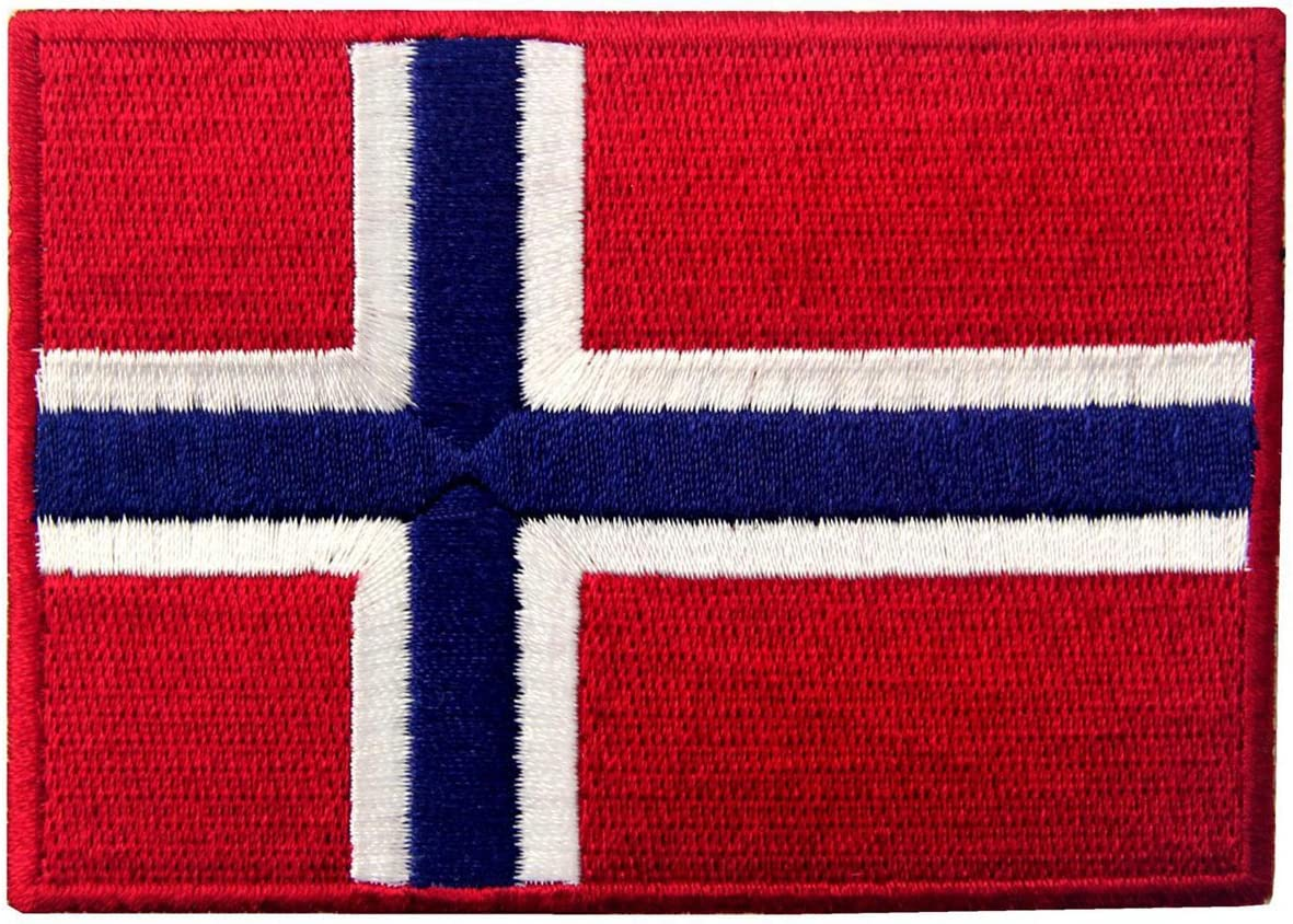 Norway Flag Embroidered Emblem Norwegian Sew online shopping Max 73% OFF On Iron National