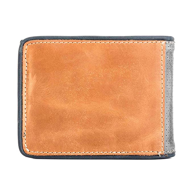 VÉLEZ 01747 Leather Bifold Wallets For Men | Cartera De Cuero De Hombre Beige at Amazon Mens Clothing store: