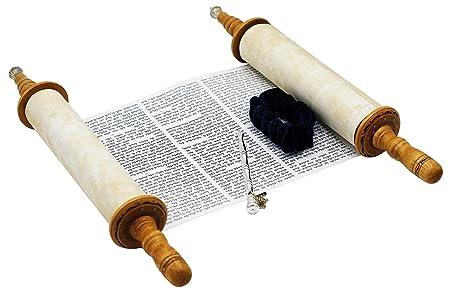 Torah Scroll Complete Sefer Torah Children s Torah, X-Large Blue Velvet Torah – 22