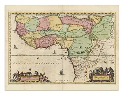 Amazon Com The Blaeu Prints Nigeria Africa Historical Map