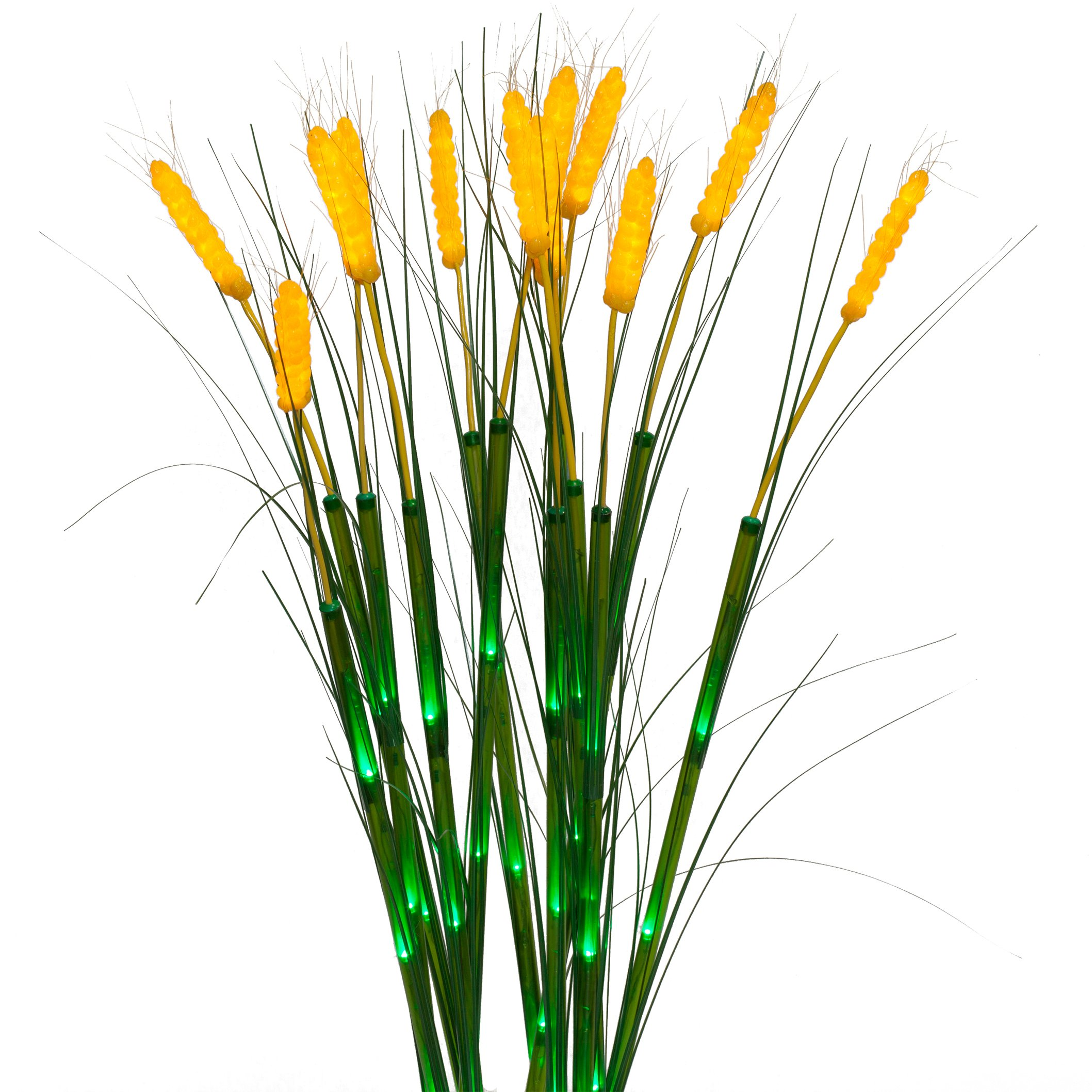 Wintergreen Lighting 41'' LED Wheat Stalks Wheat Home Décor, Lit Faux Wheat Stalks, Set of 12