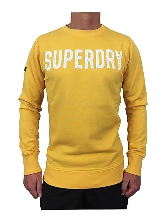 Superdry Sweat Shirt Homme Jaune Jaune Small Jaune
