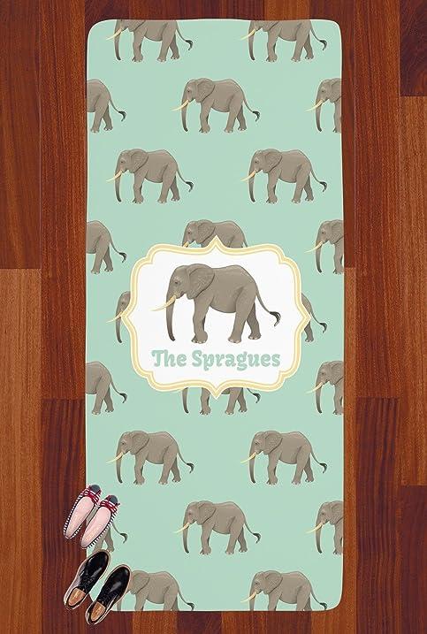 Merveilleux Elephant Runner Rug   3.66u0027x8u0027 (Personalized)