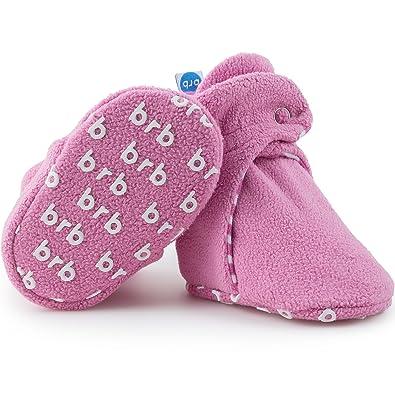 c75d343f8e97c BirdRock Baby Boys' Fleece Booties - Cotton Lining and Anti-Slip Grippers