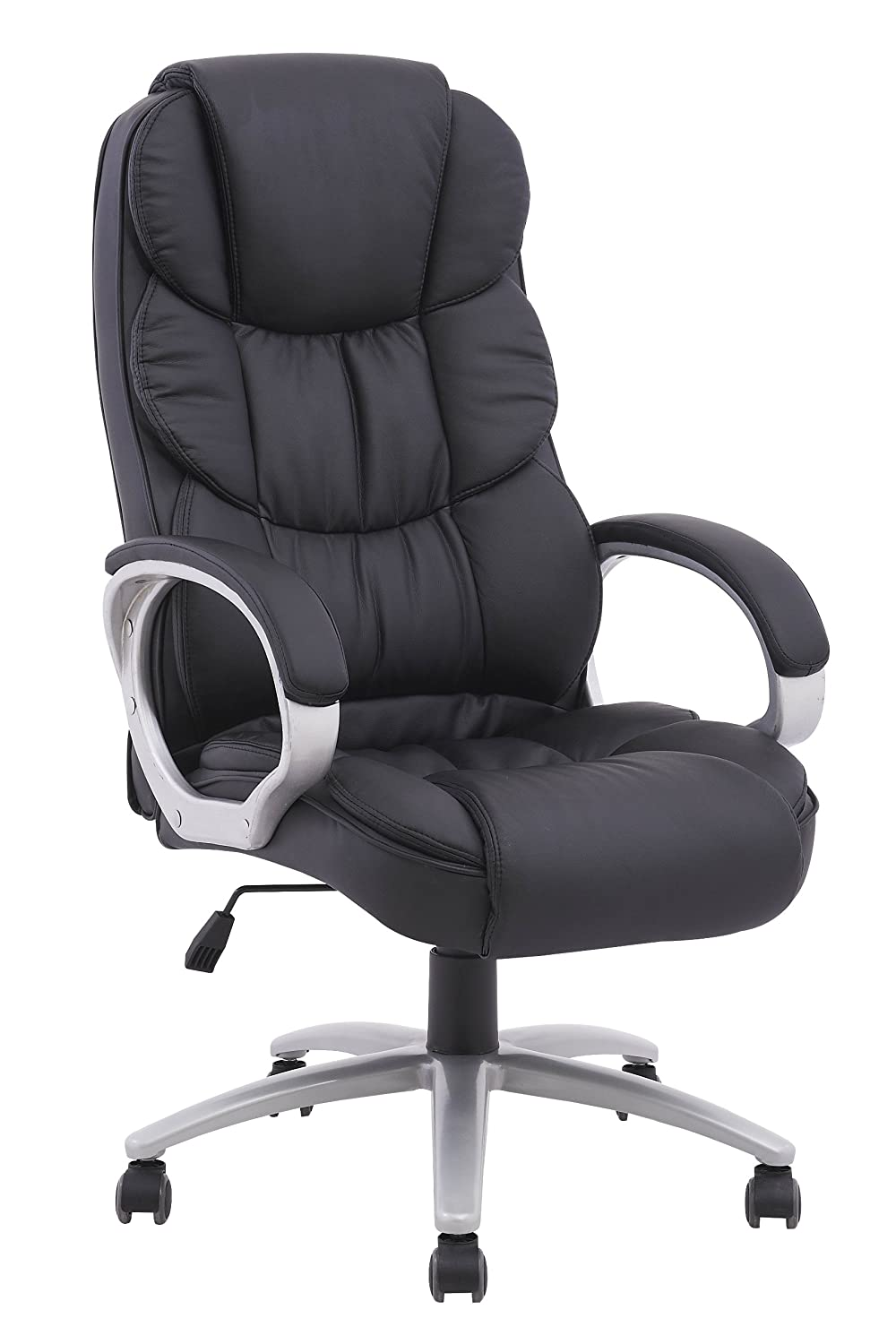 amazoncom bestoffice ergonomic pu leather high back office chair black kitchen u0026 dining