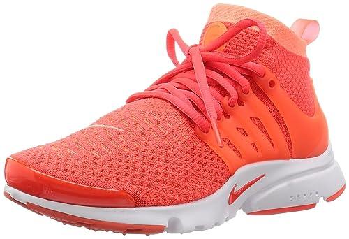 Nike W Air Presto Flyknit Ultra, Zapatillas de Deporte para Mujer, Naranja Mango/Bright Crimson, 36 1/2 EU: Amazon.es: Zapatos y complementos