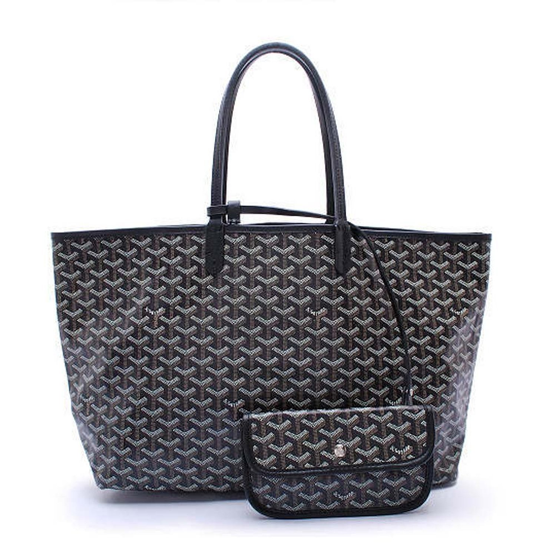 rosvin Lady Shoulder Bag 2 PieceトートバッグPUレザーハンドバッグ財布バッグセット  ブラック B01HCZMWBK