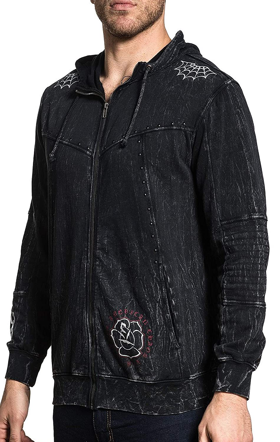 Affliction Hoody Snake Heart Schwarz