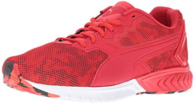 c183be3a6d88 Puma Ignite Dual Camo Mens Red Mesh Athletic Lace Up Running Shoes ...