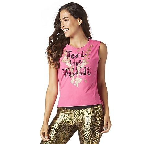 a9a92424b5dbc5 Amazon.com  Zumba Women s Workout Open Back Tank Top with Fashion ...