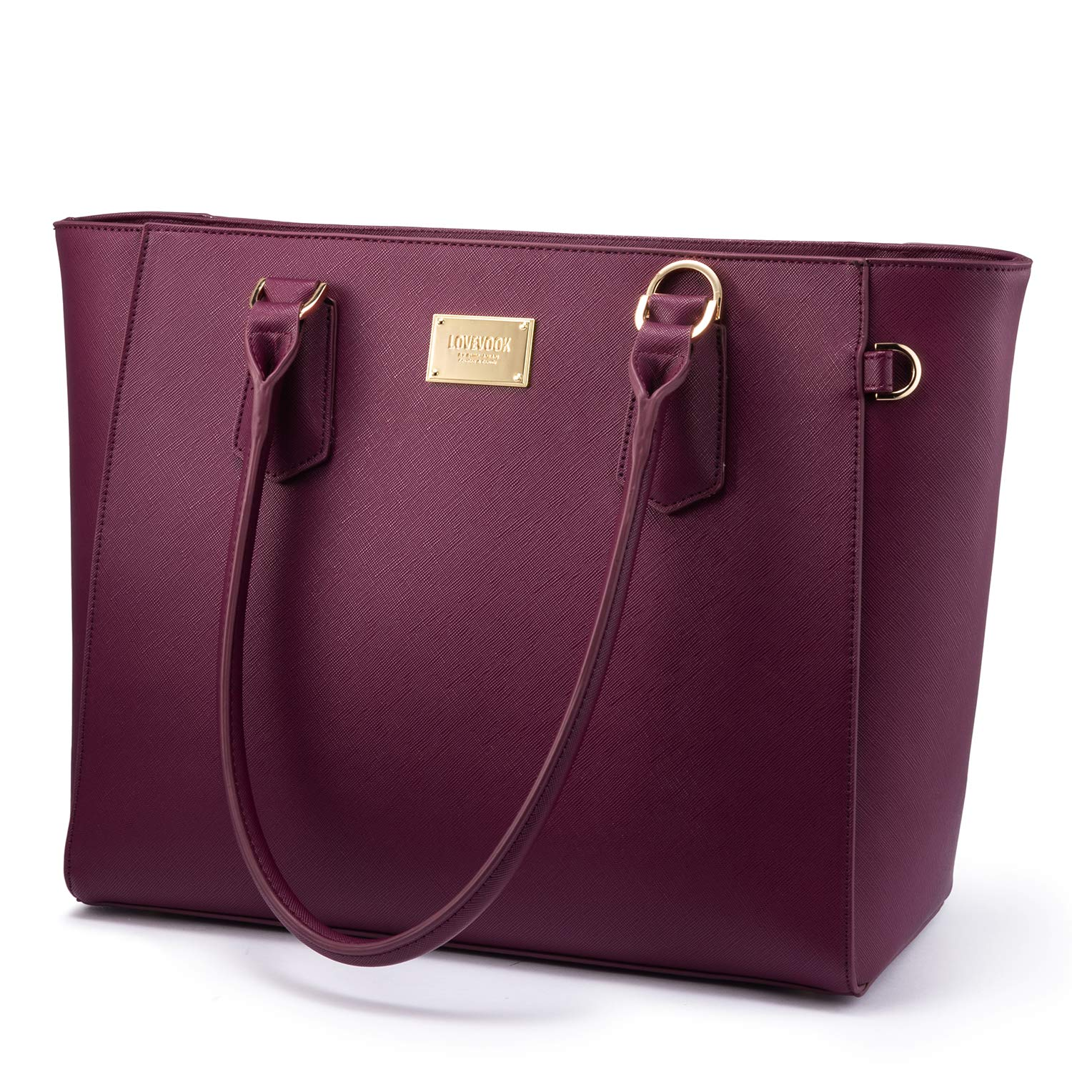 LOVEVOOK Laptop Bag for Women Leather Computer