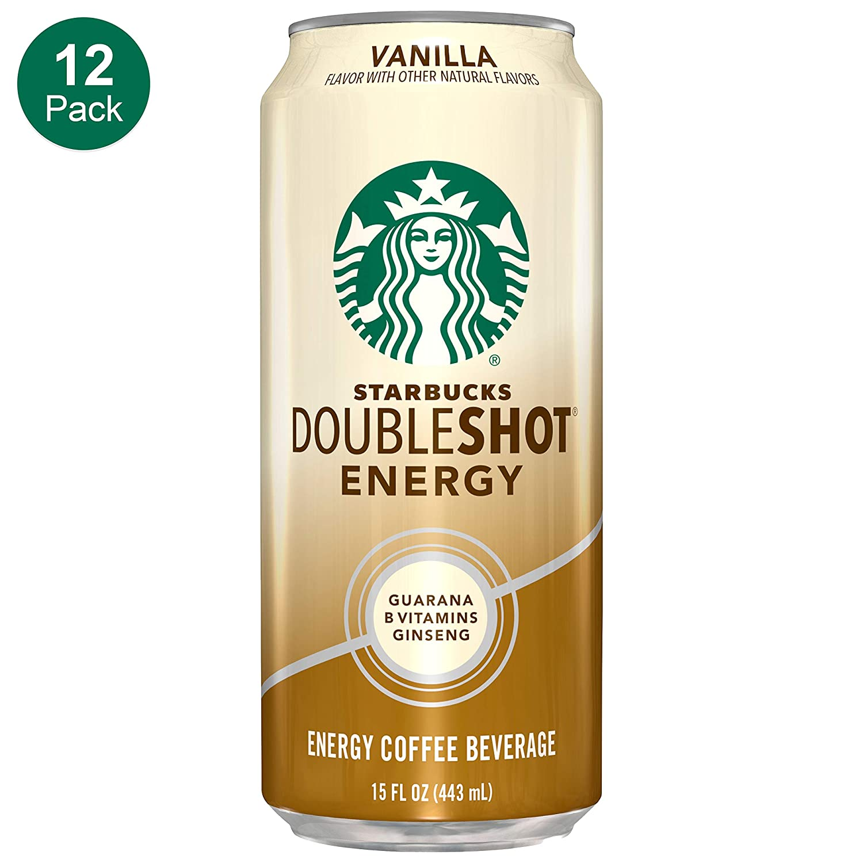 Starbucks, Doubleshot Energy Coffee, Vanilla, 15 Fl Oz (Pack of 12)