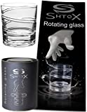SHTOX Roulette Rotating Glass, Whiskey/Scotch/Bourbon Crystal Tumbler, Crystal Glasses, Barware Tumbler, Old Fashion Cocktail/Whiskey Goblet/Glasses