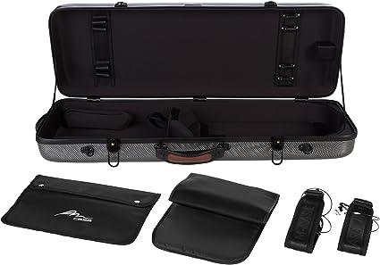 Estuche de viola fibra Oblong 38-43 carbon looking M-Case + music bag: Amazon.es: Instrumentos musicales