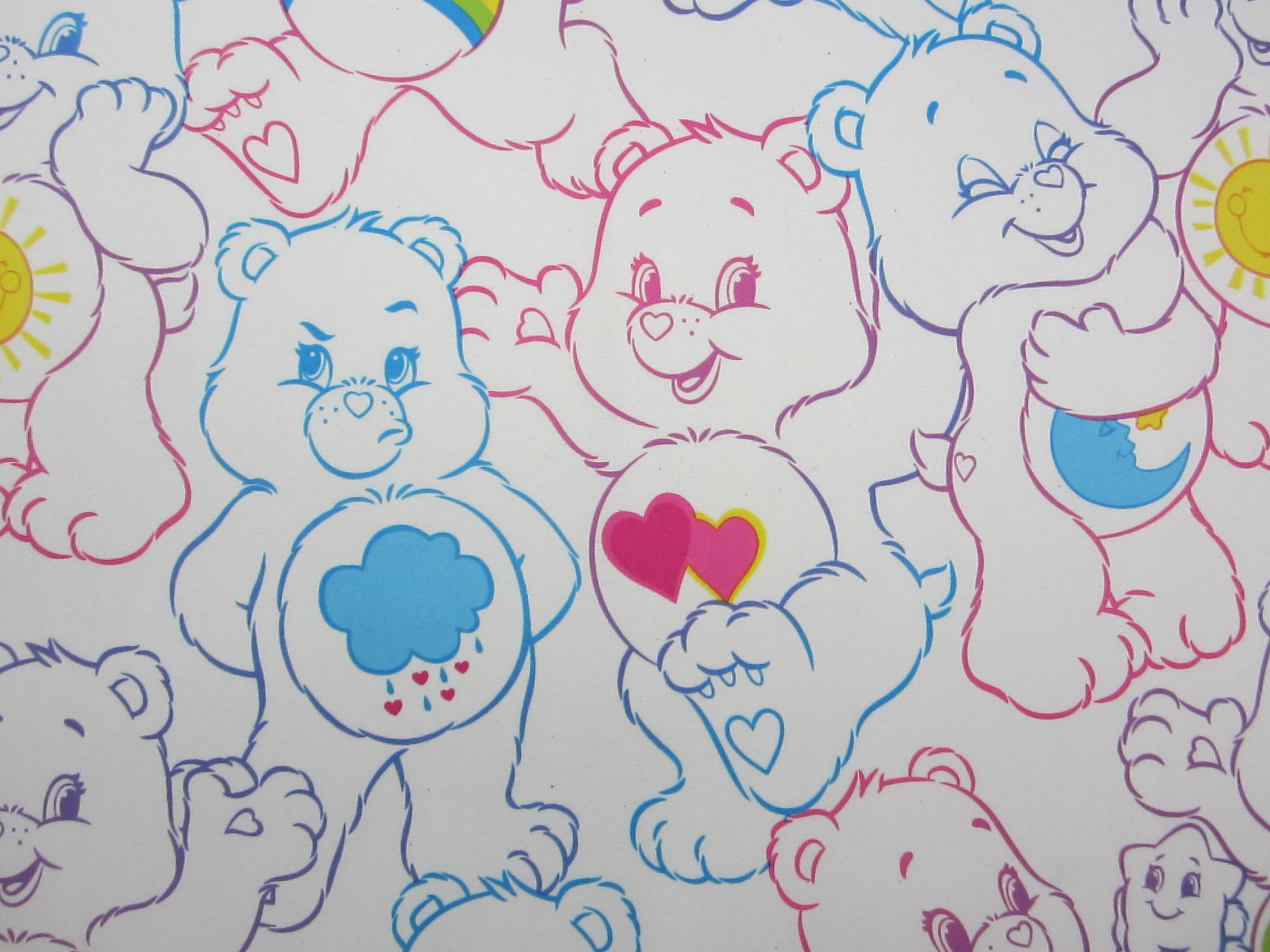 Care Bears Rainbow Day 100% Polyester (FLAT SHEET ONLY) Size Boys TWIN Girls Kids Bedding by Jay Franco