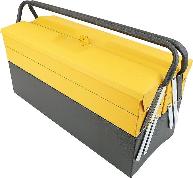 Tolsen PN14011618200172792 Caja de herramientas de metal de diseño clásico (495x200x290 mm): Amazon.es: Bricolaje y herramientas