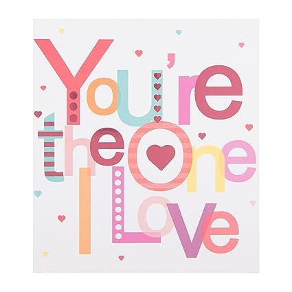 Hallmark One I Love - Tarjeta de felicitación de día de San ...