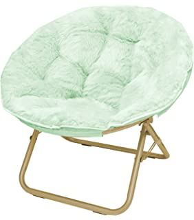 Urban Shop Micromink Saucer Chair With Gold Frame, One Size, Mint