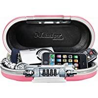 Master Lock 5900D SafeSpace - Caja Fuerte portátil, Color Gris, 9.8 x 5.5 x 2.6 Inches, Rosado