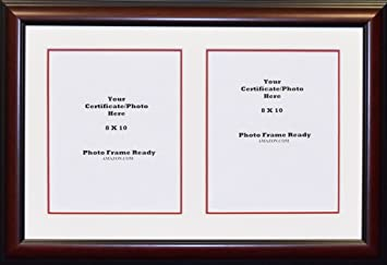 graduation university double 8x10 certificates or photo openings frame and matted - Double 8x10 Frame