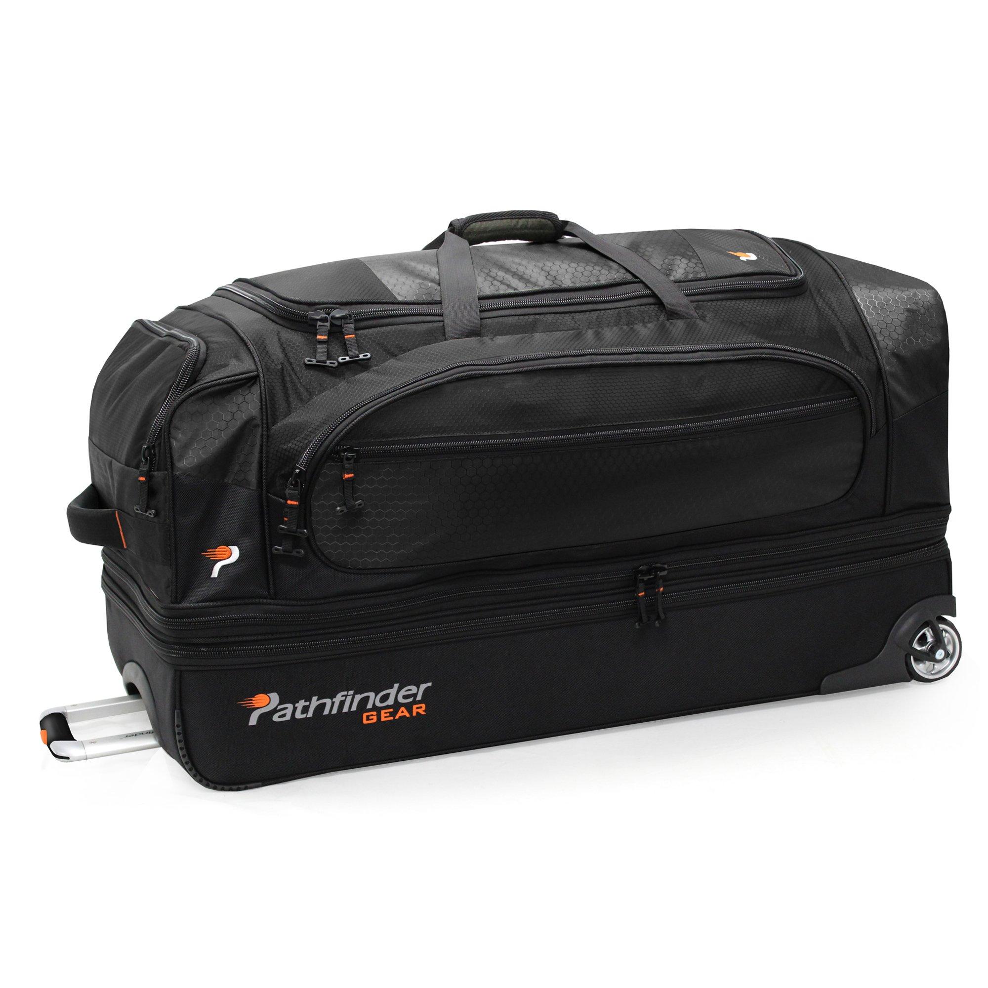 Pathfinder Gear 36 Inch Rolling Drop Bottom Duffel, Black, One Size by Pathfinder