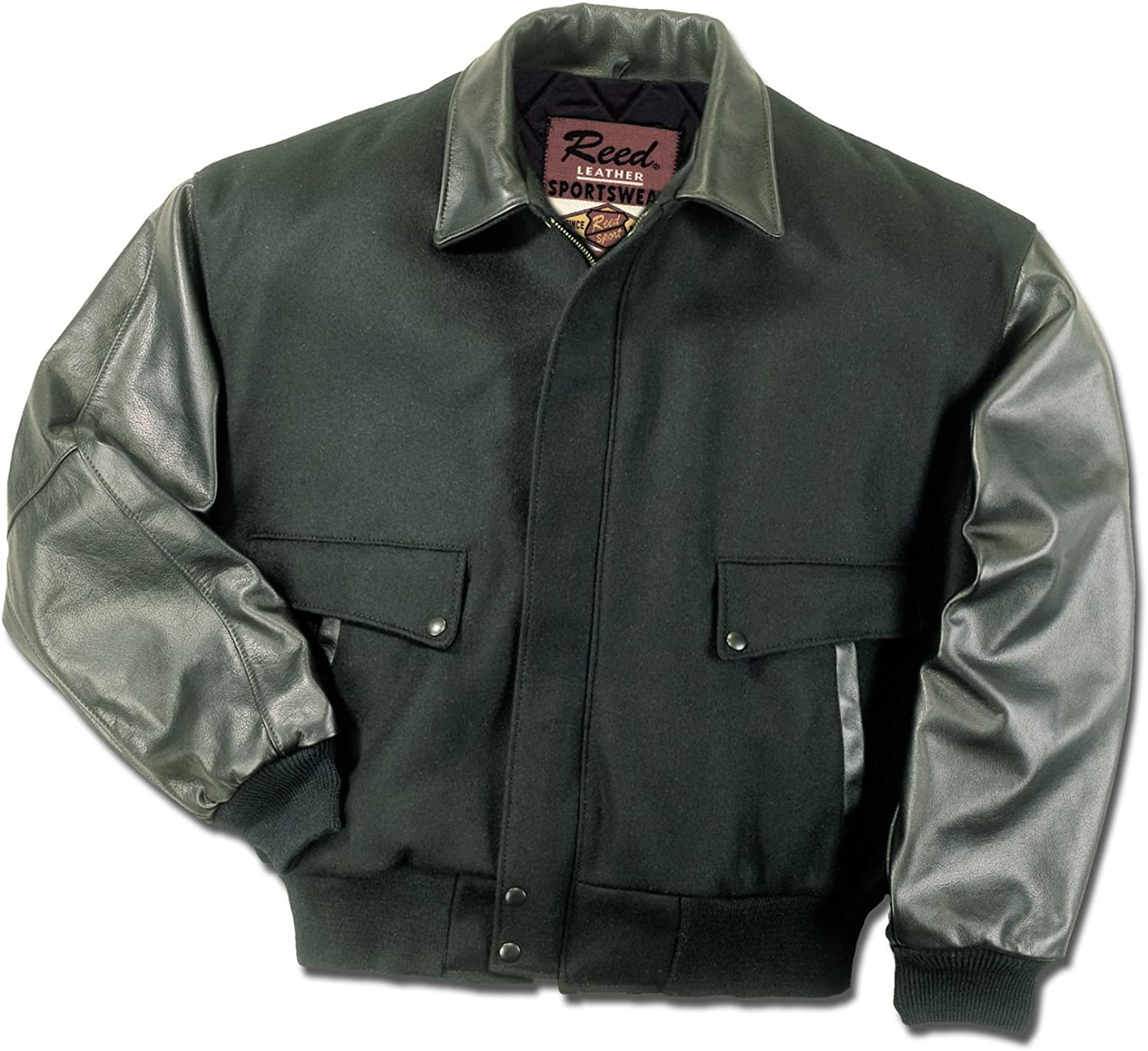 REED Mens Premium Varsity Leather//Wool Jacket Made in USA