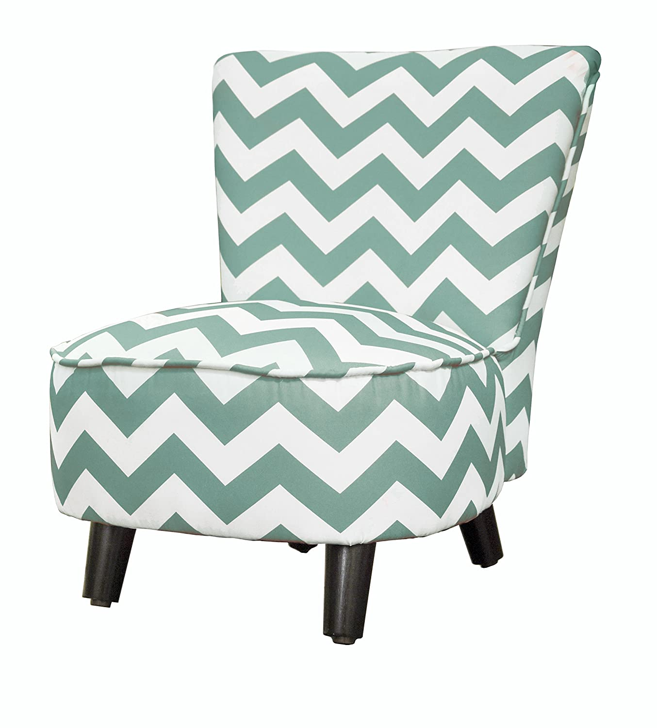 amazoncom heritage kids toddler slipper chair chevron teal toys u0026 games