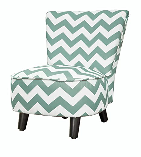 Heritage Kids Toddler Slipper Chair, Chevron Teal