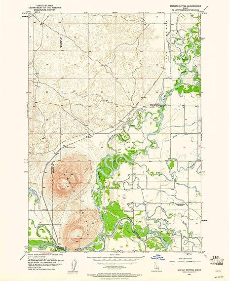 Amazon.com: YellowMaps Menan Buttes ID topo map, 1:24000 ...