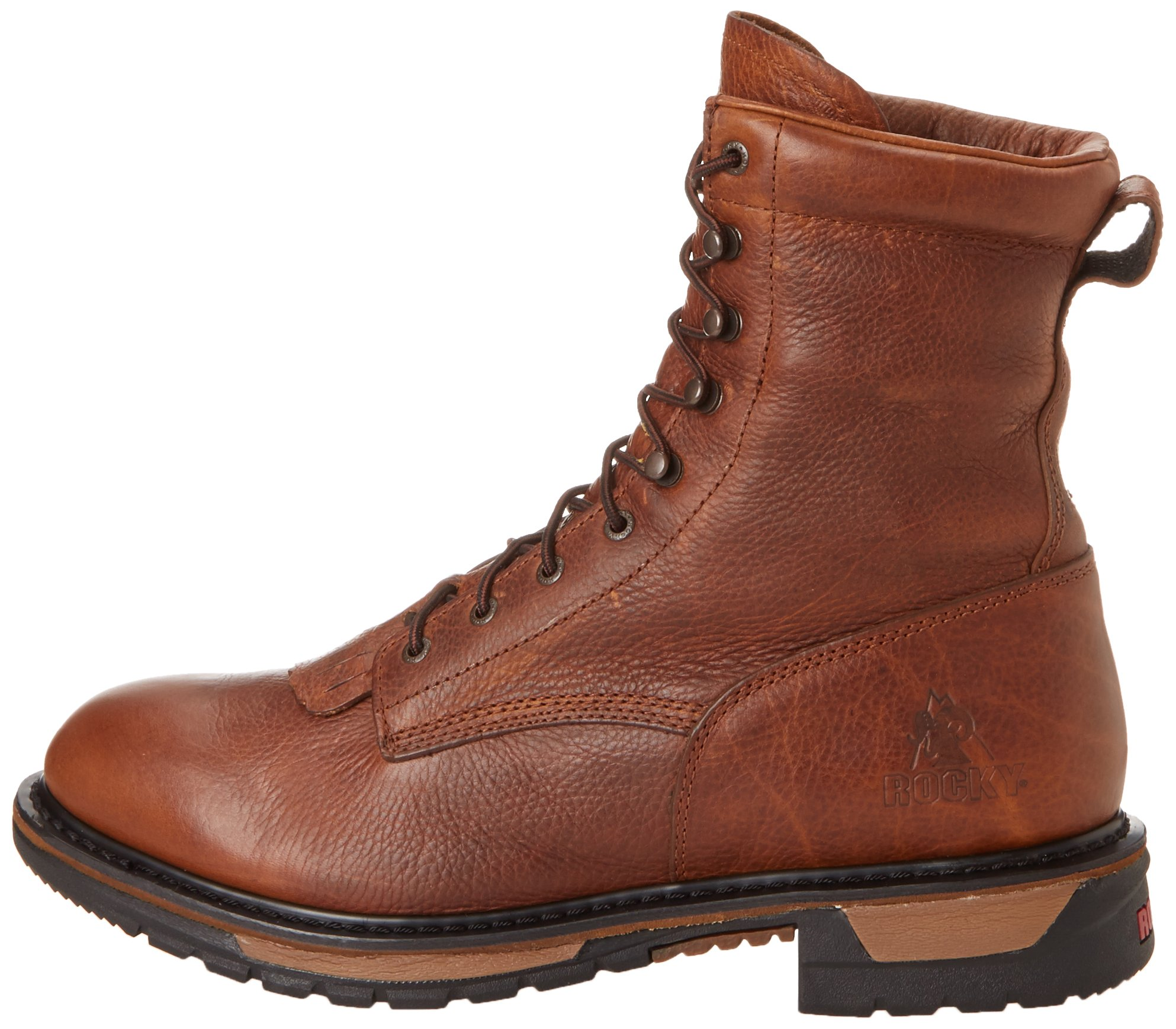 Men's Rocky 8'' EH Ride Lacer Work Boots BROWN 7.5 W by Rocky (Image #5)