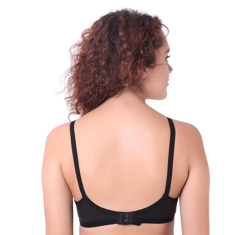 Ossirrio Women s Full Coverage Everyday T-Shirt Bra Comfortable Push  Lingerie B 9cdeba83e