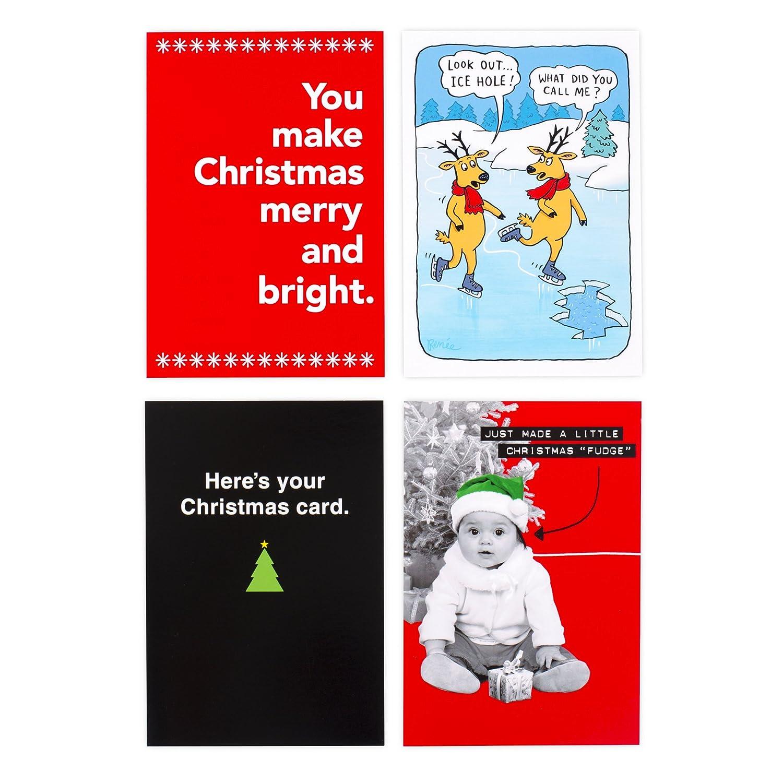 Amazon.com : Hallmark Shoebox Funny Christmas Boxed Cards Assortment ...