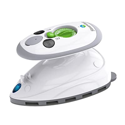 Steamfast SF-717 Mini Travel Steam Iron Dual Voltage, Travel Bag, Non-Stick Soleplate, Anti-Slip Handle, Rapid Heating, 420W Power
