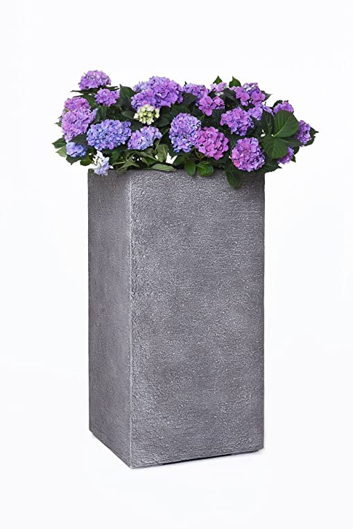 Pflanzkübel Blumenkübel Übertopf Portalvase Fiberglas Steinoptik ...