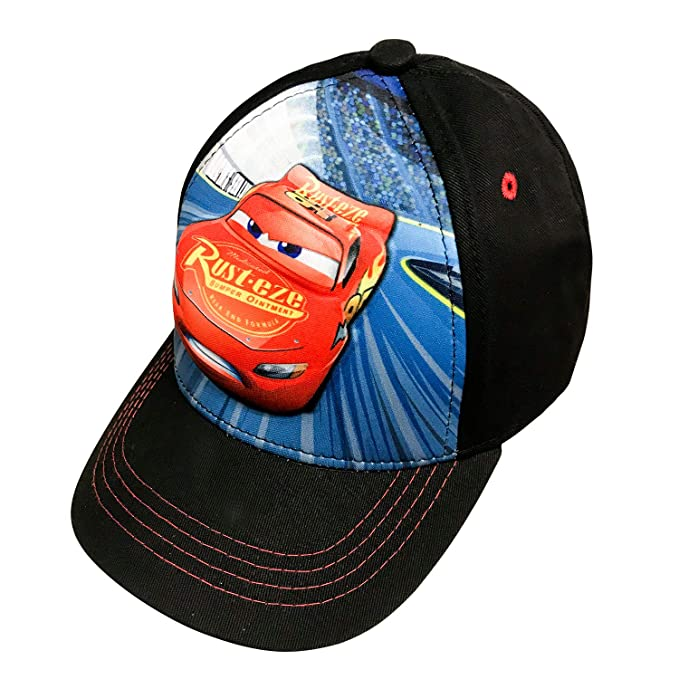 133101c1246 Disney Pixar Boys Cars 3D Lightning McQueen Baseball Cap 100% Cotton - Age  4-