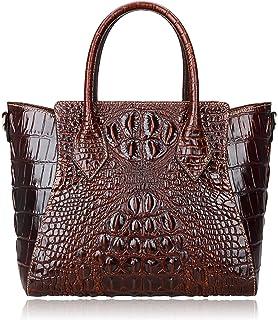 a84cae2337 PIJUSHI Embossed Crocodile Handbags for Ladies Designer Purses Top Handle  Shoulder Bag