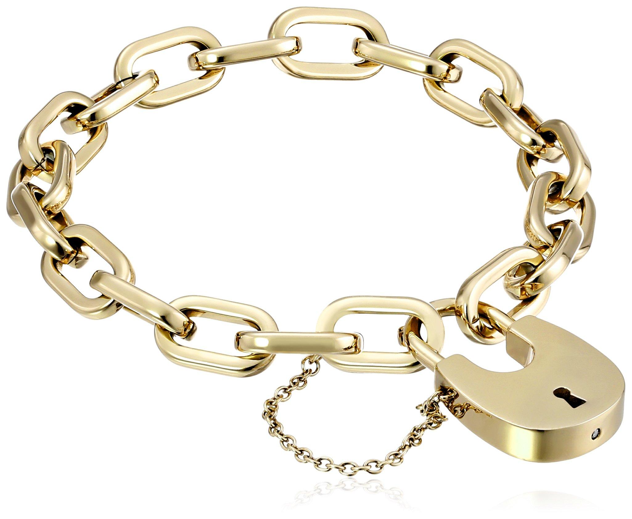 Michael Kors Gold-Tone Padlock Link Bracelet