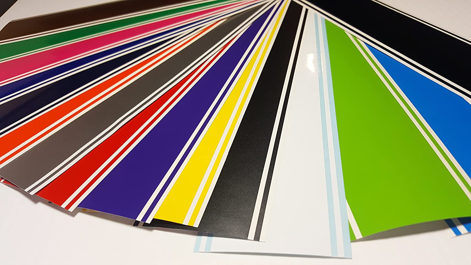Black 6x72 Vinyl Racing Stripe Decal Oracal 651 by A1A Sales
