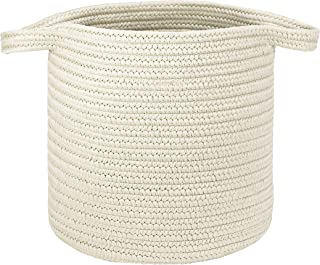 """product image for Colonial Mills Farm Braided Hamper Laundry, 16""""x16""""x20"""", Snow"""