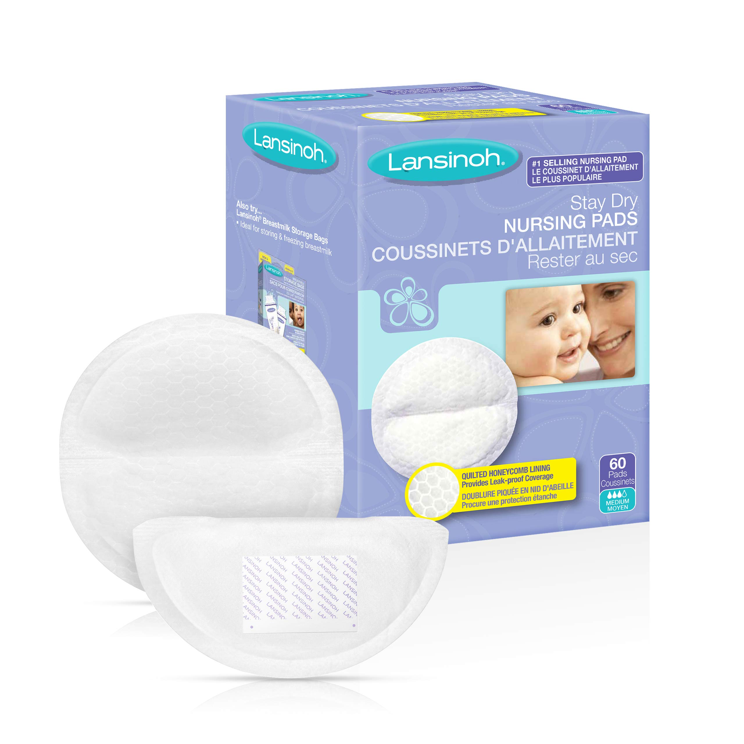 Lansinoh Stay Dry Disposable Nursing Pads for Breastfeeding, 240 count by Lansinoh
