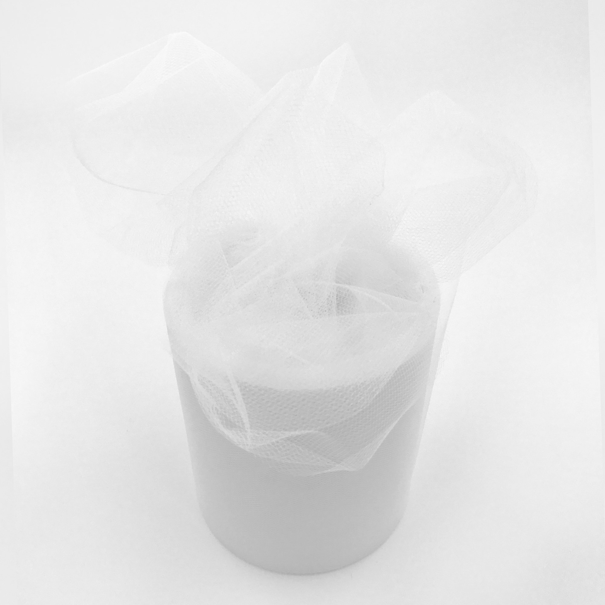 Craft and Party, 6'' by 200 Yards (600 ft) Fabric Tulle Spool for Wedding and Decoration. Value Pack. (White) by Craft And Party (Image #1)