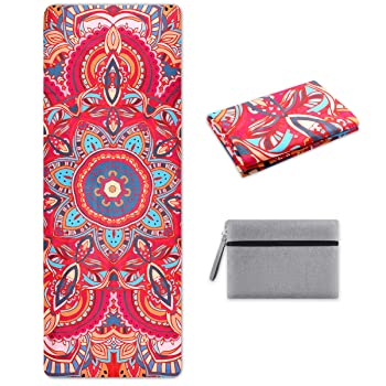 SKL Rubber & Suede Travel Yoga Mat