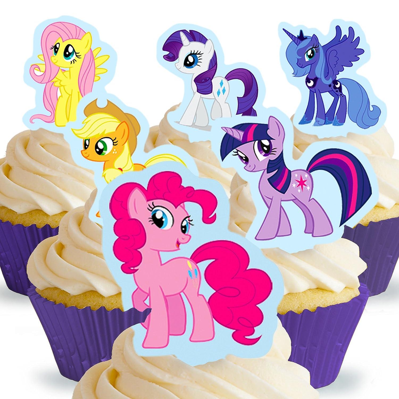 "Disney Princess Mini Edible Icing Cupcake Toppers 1.5/"" PRE-CUT Sheet of 30"